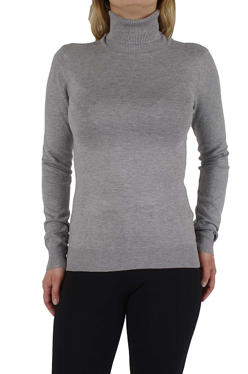 Vero Moda Glory new ls Rollneck Pullover light grey mel