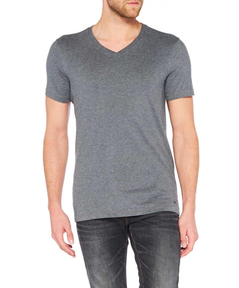 Colorado Joaquim - V-Neck T-Shirt - Dark Grey Mel