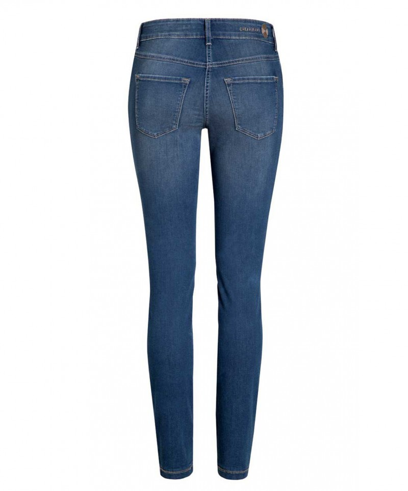 MAC DREAM SKINNY - Slim Fit Jeans - Mid Blue Used