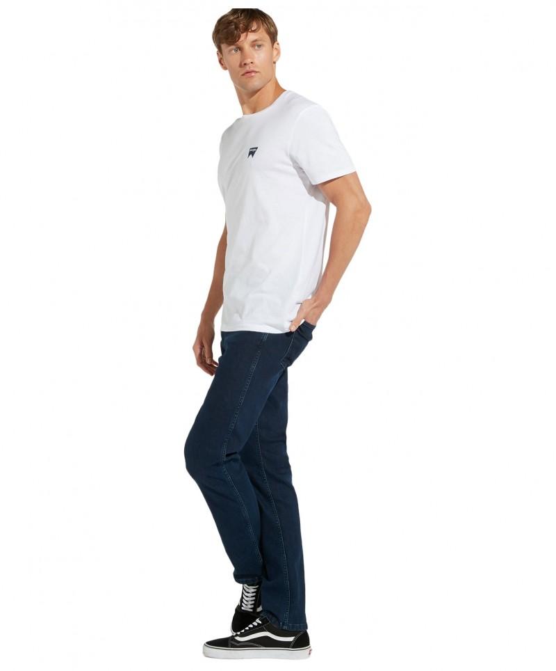 Wrangler - Langes T-Shirts mit Logo in Weiß f04