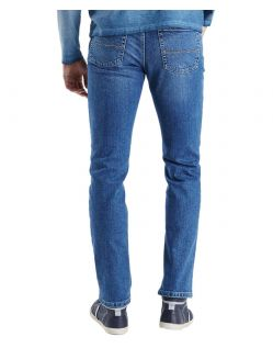 Pioneer Jeans RANDO - Straight Leg - Stone Used - Hinten