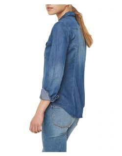 VERO MODA VERA - Jeanshemd - Medium Blue Denim - Hinten