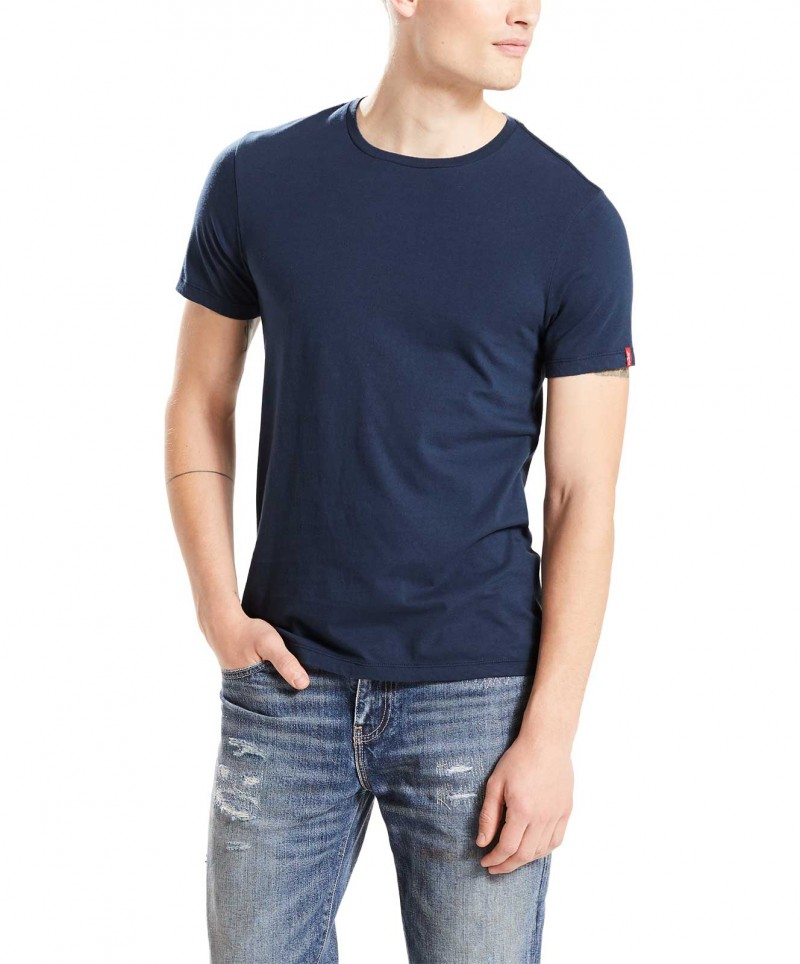 LEVI'S T-Shirt 2 Pack Crew Tee - Slim Fit - Grau