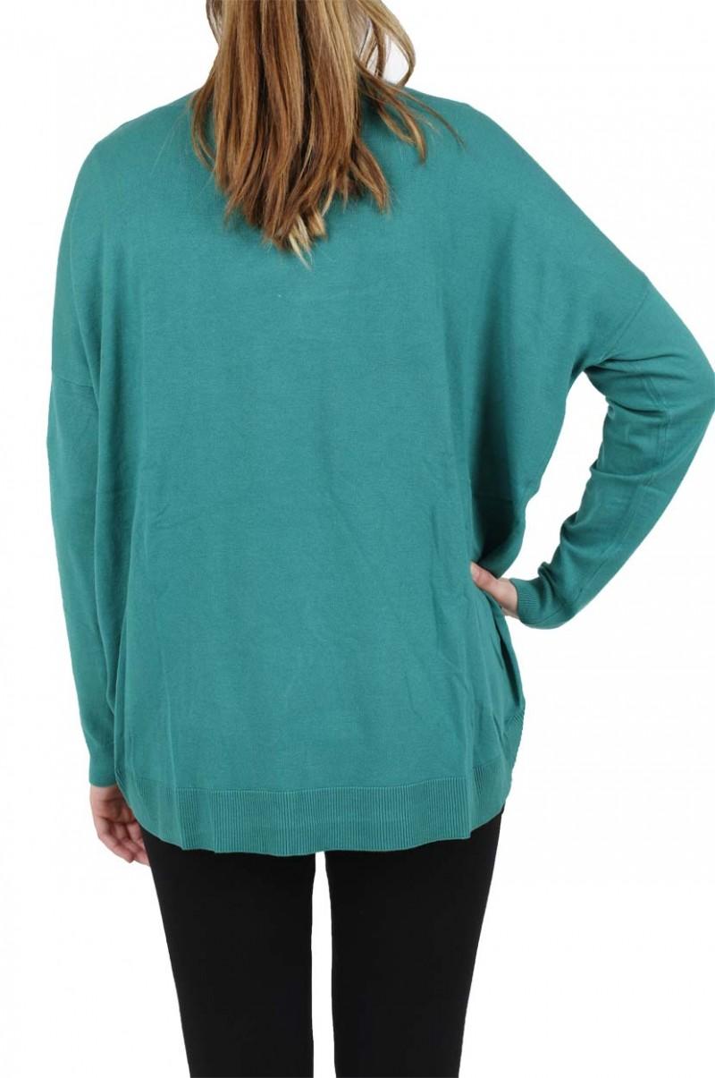 VERO MODA DANIA CARDIGAN - Green Blue Slate