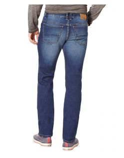 Paddocks Ranger Jeans - Slim Fit - Blue Black Moustache Used - Hinten