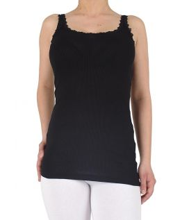 Vero Moda TANK TOP SMILE LACE black