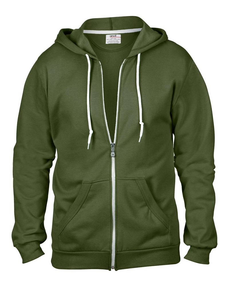 Anvil Kaputzen Sweatjacke City Green