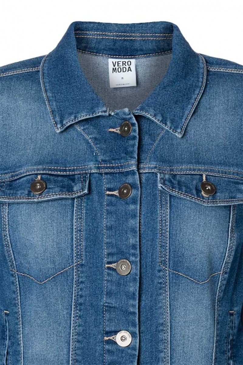 VERO MODA NEW SOYA JEANSJACKE - Medium Blue