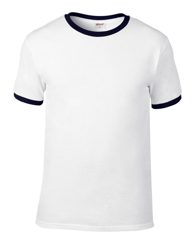 Anvil Knitwear - T-Shirt Heavyweight Ringer - White-Navy