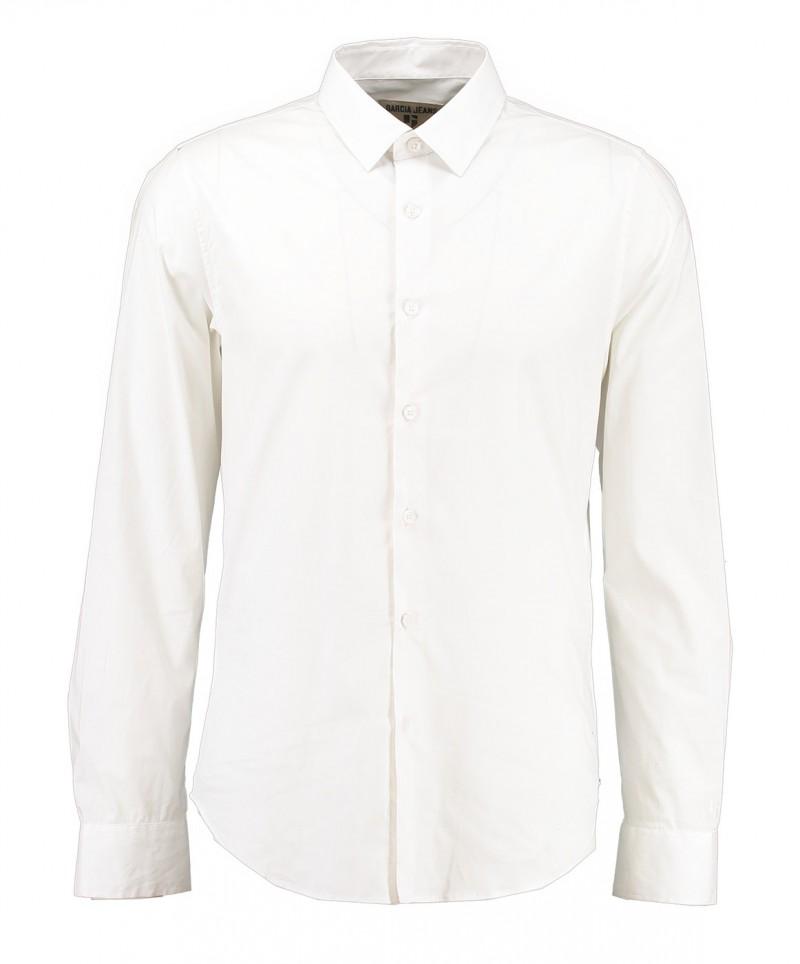 Garcia Dario - Businesshemd für Herrren mit Kentkragen - Weiss