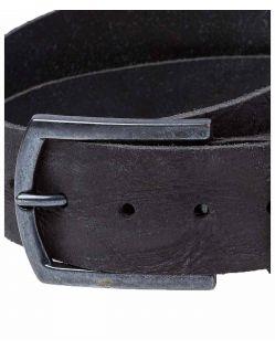 Cross Jeans Gürtel - Strukturleder - Schwarz - Details