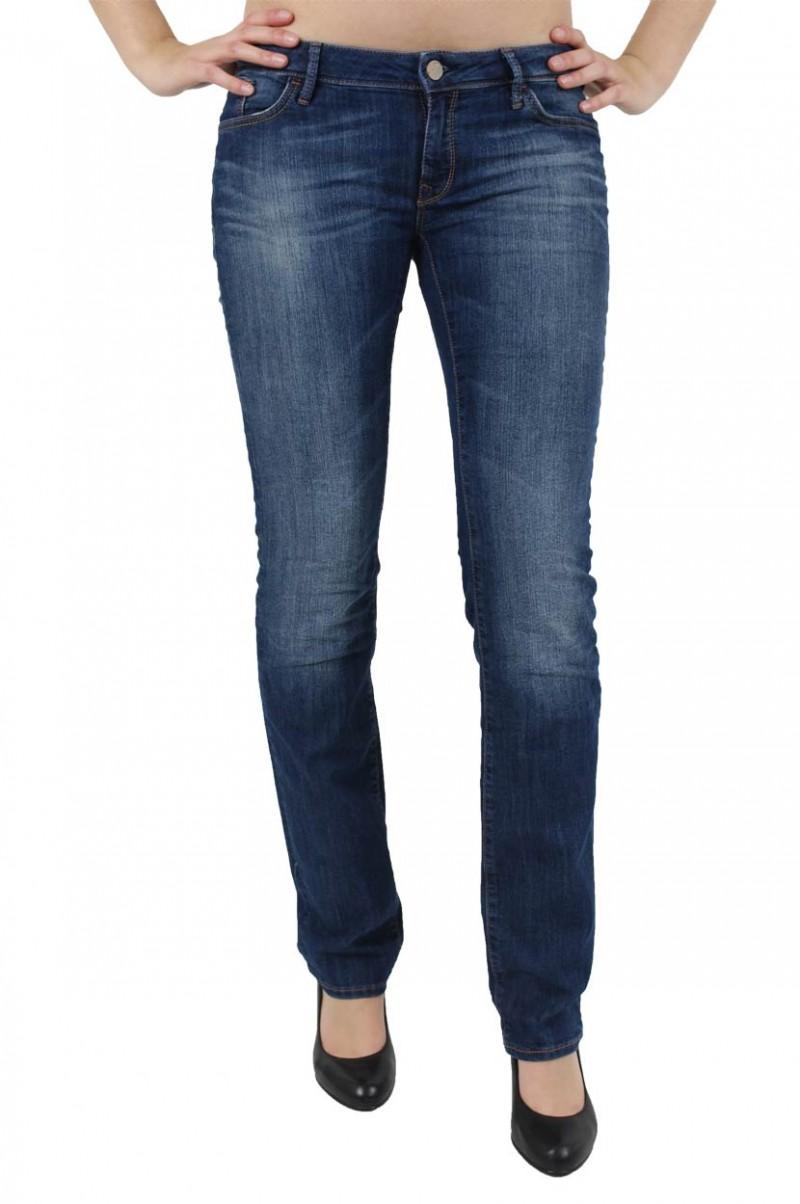 Mavi Olivia Jeans - Straight Leg - Dark Rome Str. v
