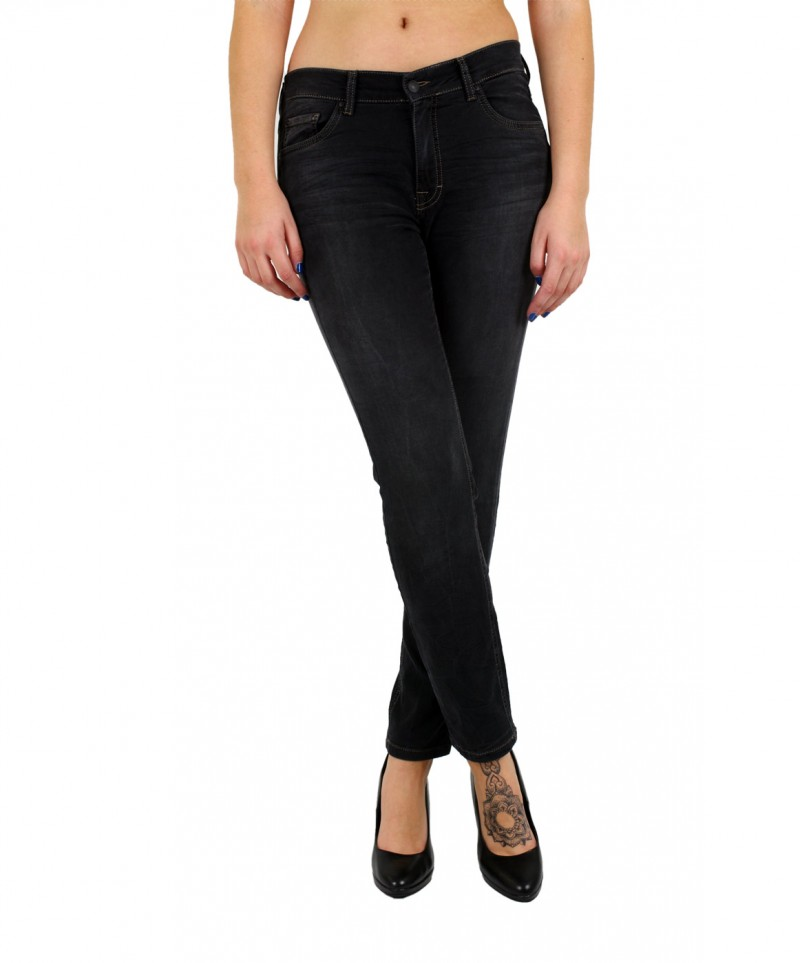 Angels Skinny Jeans - Sweat Denim - Black Used