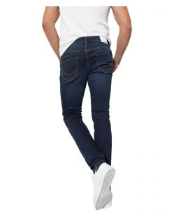 HIS CLIFF - Slim Fit Jeans - Pure Blue Black - Hinten
