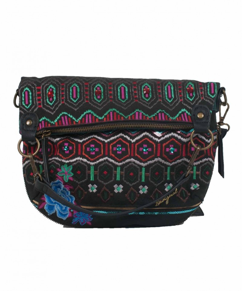 Desigual Tasche - Bols Folded Eternal - Schwarz