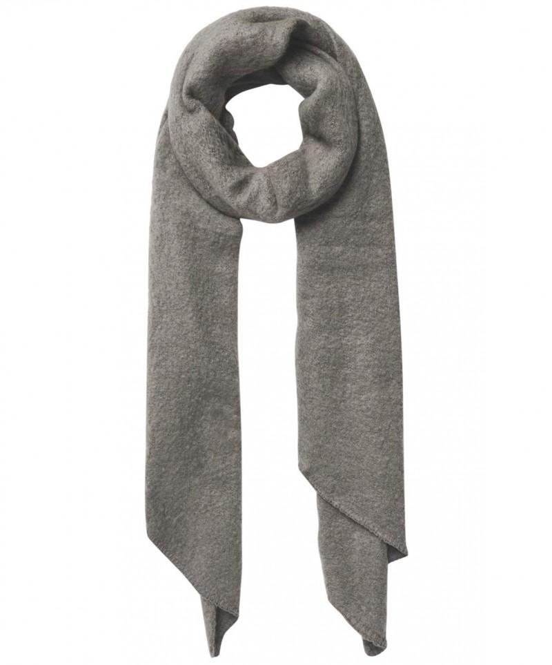 Pieces Pyron - gestrickter langer Schal - Grau