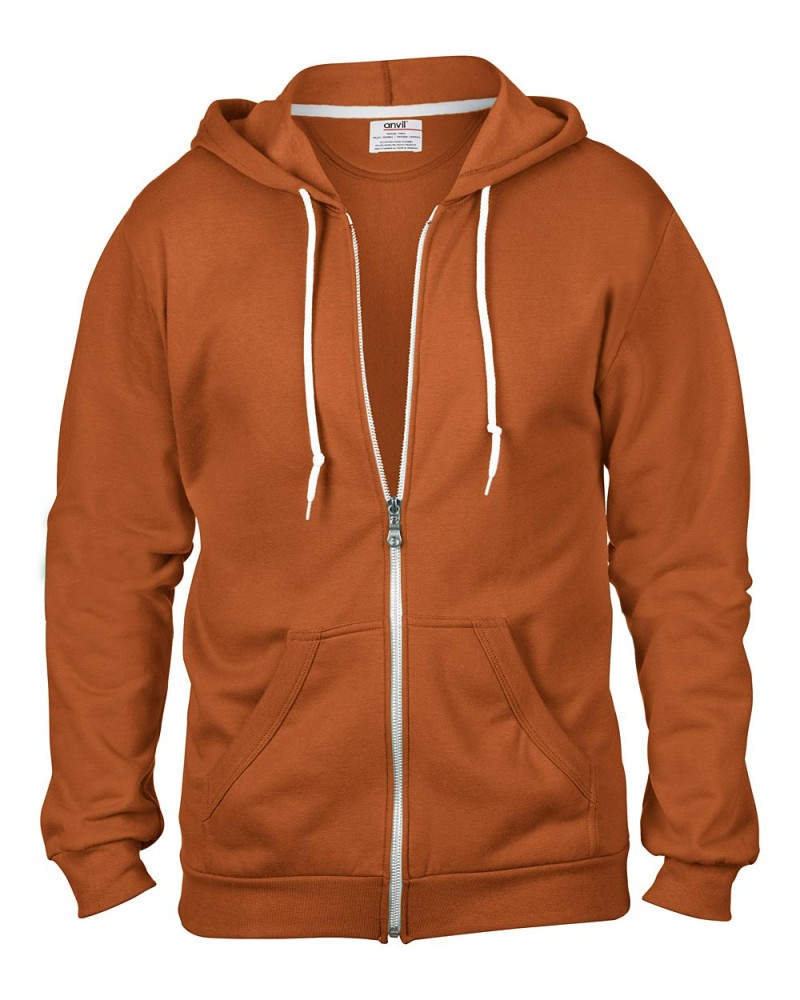 Anvil Kaputzen Sweatjacke - Regular Fit - Texas Orange