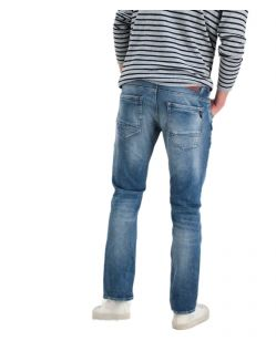 Garcia Russo - Mittelblaue Straight-Fit Jeans - hinten