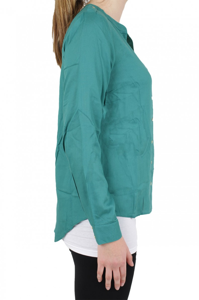 Vero Moda Bluse - Ivar Ls - Green Blue Slate v