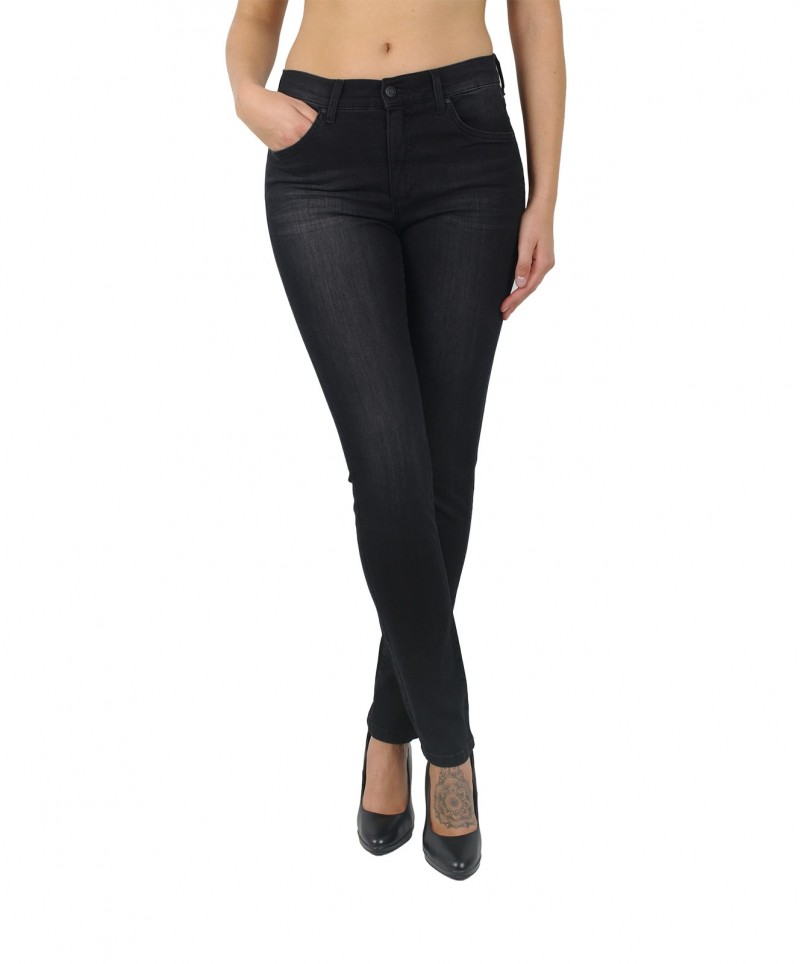 Angels Skinny Jeans - Power Stretch - Black Used Buffi