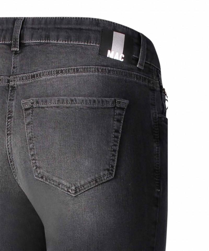 Mac Fringe schwarze Jeans mit Verwaschungen