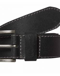 Wrangler Gürtel Basic Stitched Belt in Black f02
