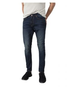 HIS ELLIOT - Tapered Fit Jeans - Dark Blue Wash