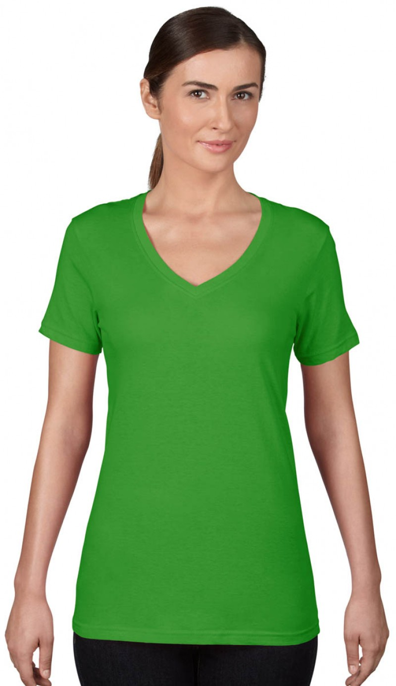 Anvil T-Shirts - Sheer V-Ausschnitt  - Green Apple v2