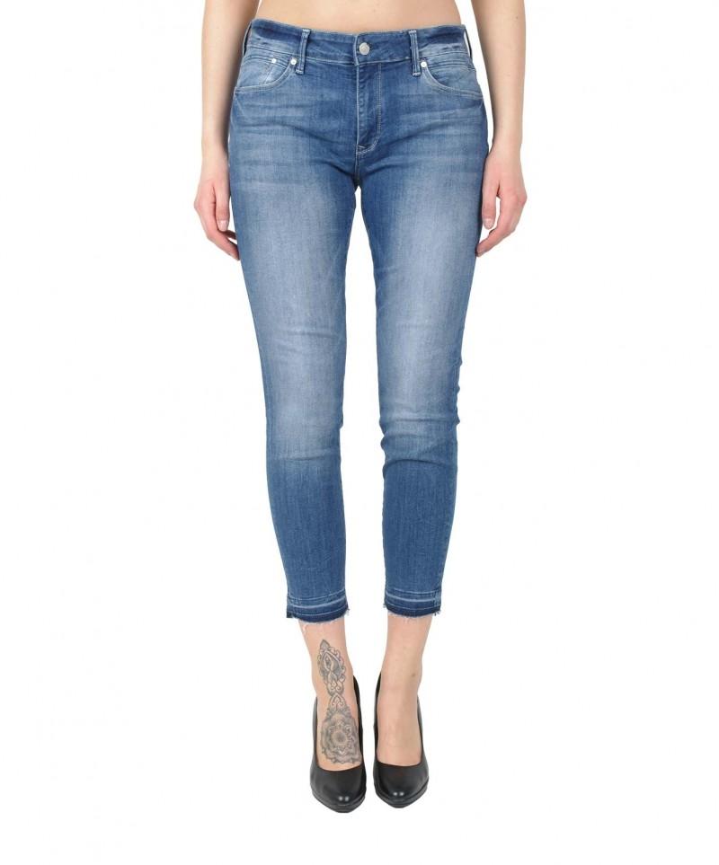 Mavi Adriana Ankle Knöchellange Skinny Jeans mit Destroyed Saum