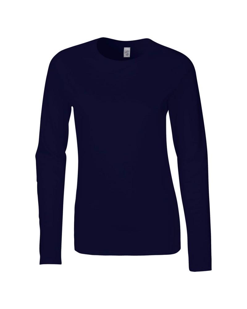 Gildan Langarmshirt - Softstyle - Navy v