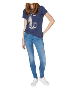 Colorado Denim Lana - Skinny Jeans in hellblau mit Crinkle Optik