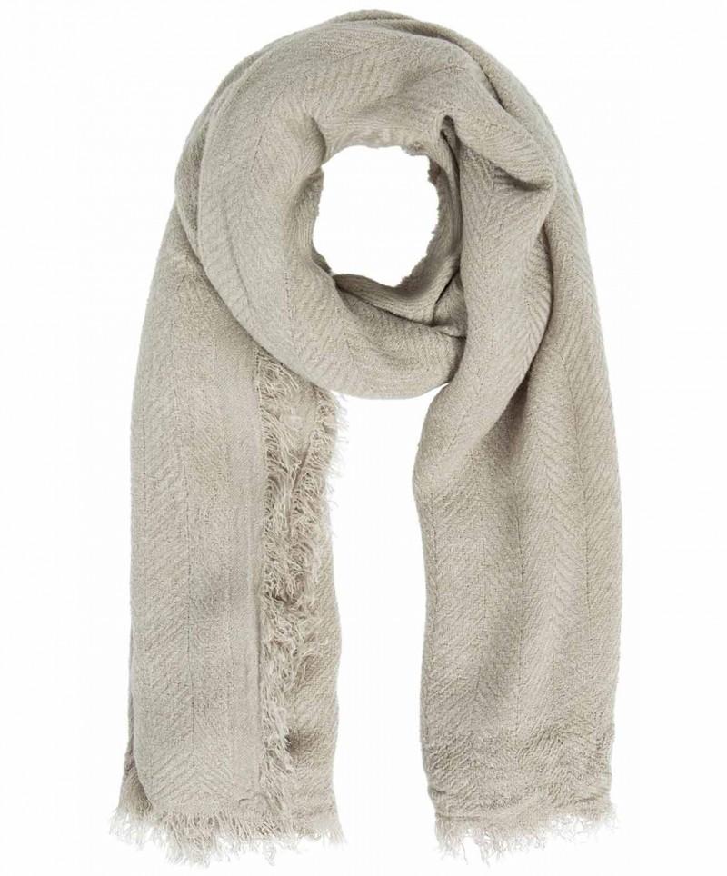 PIECES POKSY - Einfarbig gewebter Schal - Beige