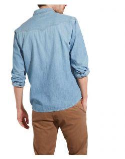 Wrangler Jeans - hellblaues Westernhemd mit schlanker Form - Hinten