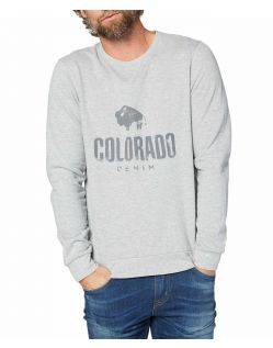 Colorado Denim Olliver - graues Sweatshirt mit Logo Print