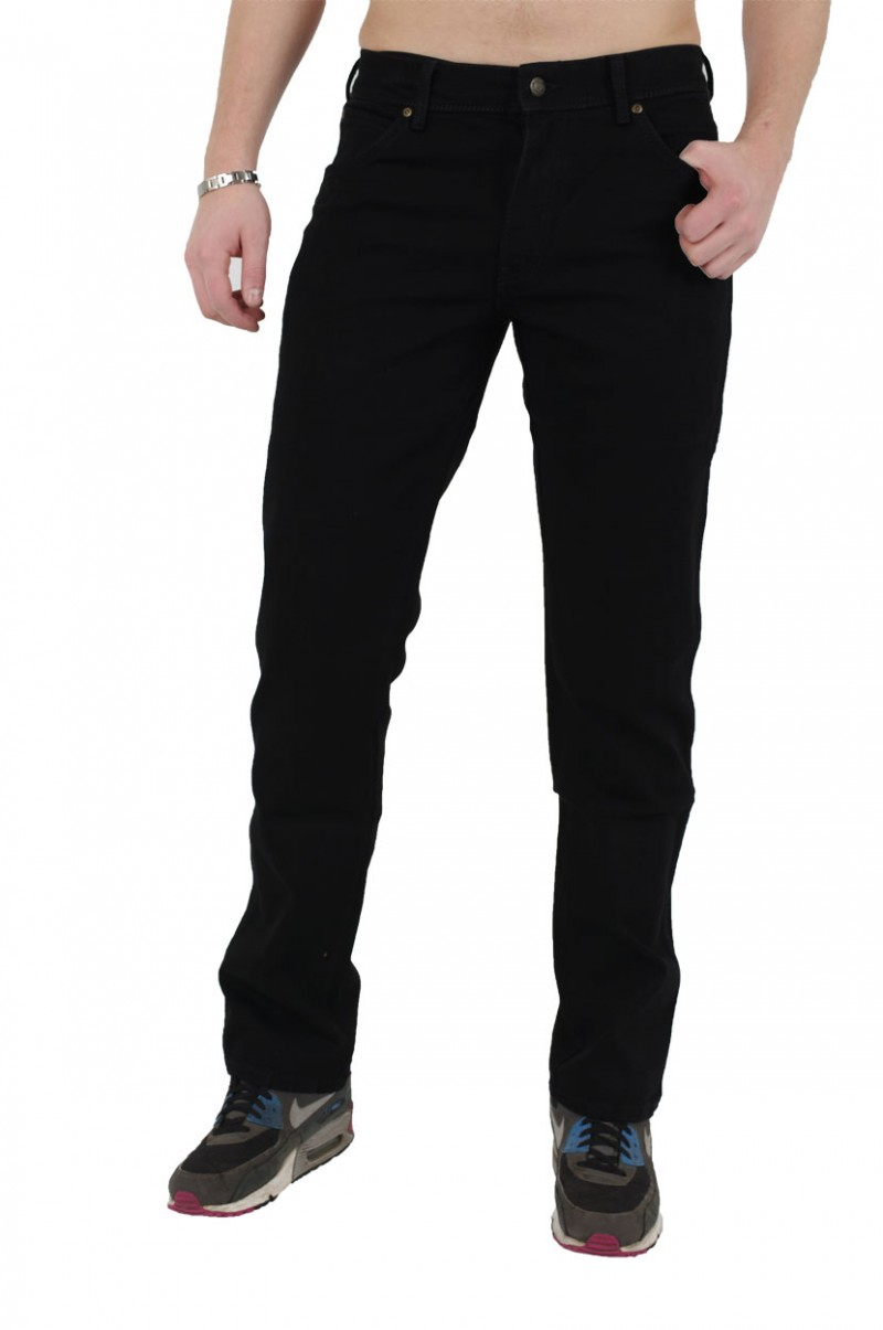 Wrangler Regular Fit - Baumwoll Jeans - Black