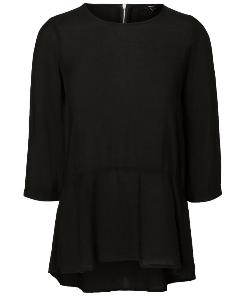 Vero Moda Frill - Locker sitzende Bluse in Schwarz