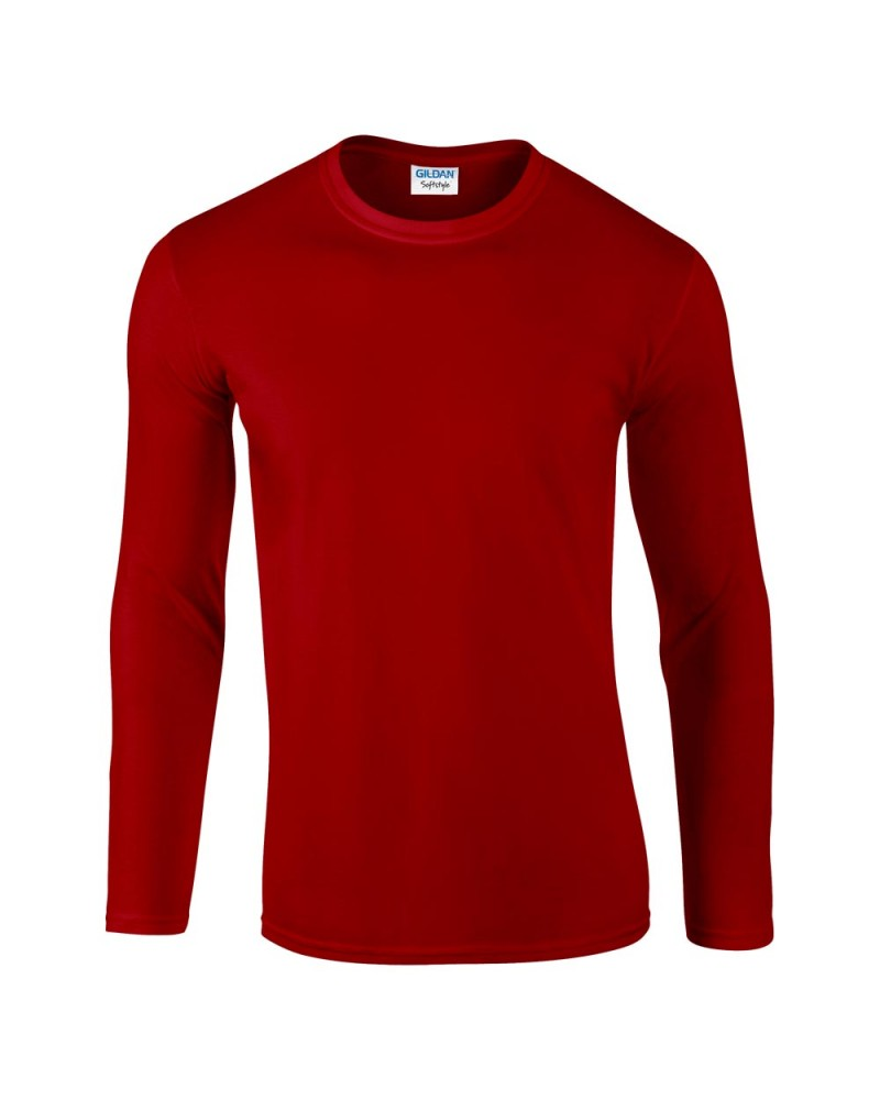 Gildan Herren Langarmshirt - Softstyle - Red v