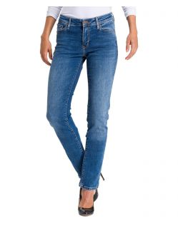 Cross Jeans Anya - mittelblaue Slim fit Jeans aus Stretchdenim
