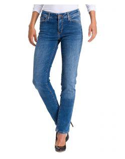 Cross Jeans Anya - mittelblaue Slim fit Jeans aus Stretchdenim