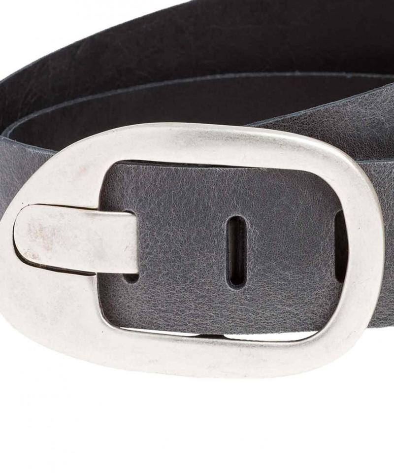 Cross Jeans Gürtel - Design Dornschnalle - Grau