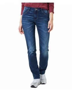 Pioneer Sally - Straight Jeans im dunkelblauem Used-Look
