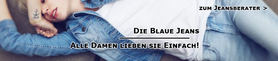 Blaue Jeans für Damen