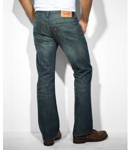 Bootcut Jeans für Herren - Hinten