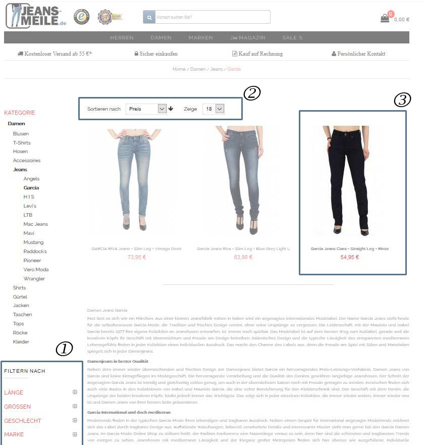 Hilfe Katalogansicht