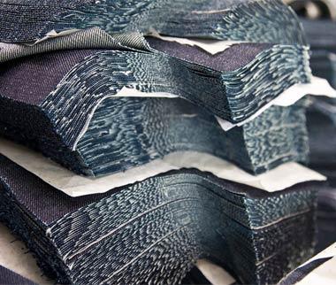 Denim Jeans Schichten
