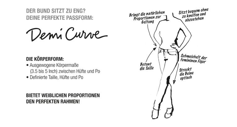 Levis Demi Curve Jeans Passform